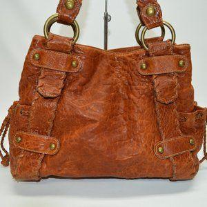 Kooba Sienna Textured Leather Whiskey Tote